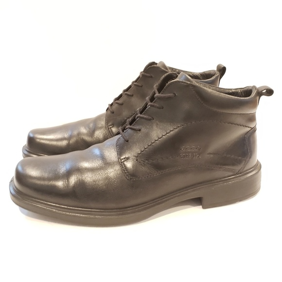 Ecco dress boot black leather size 45